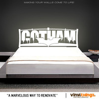 Batman Gotham City Vinyl Headboard