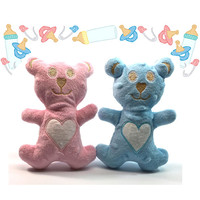 Stuffed Teddy Bear,  Baby Toys - Personalized - Pink, Blue - Minky Fabric - Baby Boy, Girl - Baby Gift - Baby Shower Gift - Gifts Under 20
