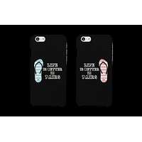 Life Is Better In Pairs Matching Couple Phone Cases Cute Phone Covers