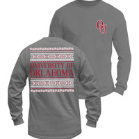 Long Sleeve OU Tribal-Comfort Colors