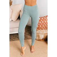 Move To The Beat Leggings (Blue Grey)