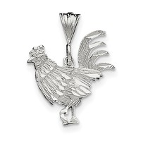 Sterling Silver Rooster Charm QC1708