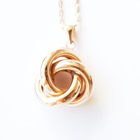 18K Gold plated interlock circles necklace