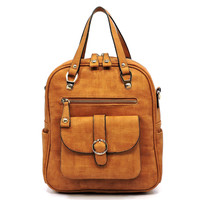 Textured Convertible Tote Backpack