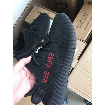 2017 NWT YEEZY BOOST 350 V2 CP9652 KANYE WEST CORE BLACK RED MEN'S SIZE