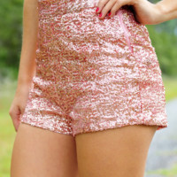 Center Of Attention Shorts: Peach | Hope's