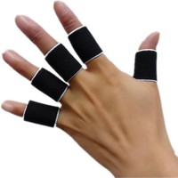 10pcs Stretchy Protective Sports Gym Gear Finger Guard Bandage Skidproof Volleyball Basketball Finger Stall Sleeve Protector