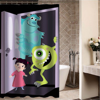 """monsters inc art Custom Shower curtain,Sizes available size 36""""w x 72""""h 48""""w x 72""""h 60""""w x 72""""h 66""""w x 72""""h"""