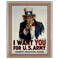Uncle Sam Wants You Framed Wall Art