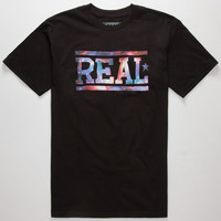 Real Skateboards Space Bar Mens T-Shirt Black  In Sizes