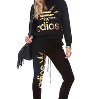 Black and Gold Adios Sweater