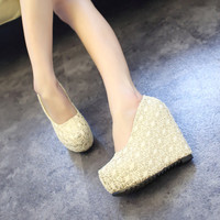 Summer High-Healed Wedges Shoes