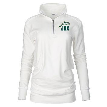 Official NCAA Jacksonville University Dolphins Unisex 1/4 Zip Up Fleece Pullover