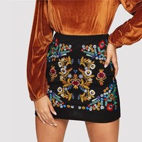 Casual Zipper Night Out Mini Skirts
