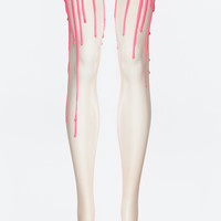 Neon Pink Melting Tights | URB