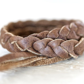 Men's or Women's Braided Leather Bracelet - Gift for Him - Hip - Unique Gift - European Style