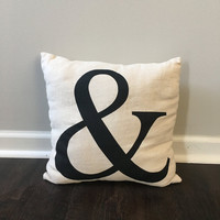 Burlap Ampersand 18 X 18 Pillow Cover