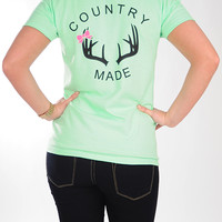 Country Made Antler Shirt: Mint   Hope's
