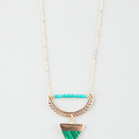 Full Tilt Scalloped Crescent Triangle Necklace Gold One Size For Women 26297662101