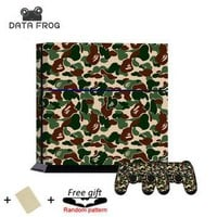 NEW Fashion Cool Supreme Bape Camo Pattern Protective Skin Decal Sticker For Sony PS4