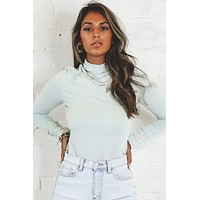 50% OFF ONE DAY ONLY - Call Me Angel Pistachio Turtleneck Top