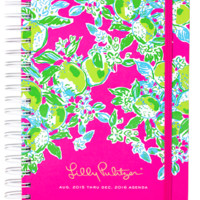 Lilly Pulitzer Large 17 Month Agenda- Pink Lemonade