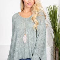 Oversize Dolman Knit Sweater | Mint