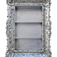 Fabulous and Baroque — Felicia Wall Mounted Etagere - Silver Leaf