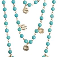 MARLYN SCHIFF BEADED LAYERED NECKLACE