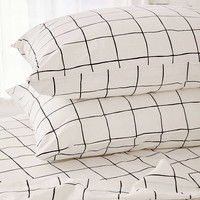 Wonky Grid Sheet Set - Urban Outfitters