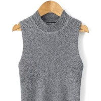 Sleeveless Halter Knitted Vest Tank Top