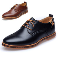 High Quality PU Leather 2015 New Arrival Men's Business Shoes Lace Up Fashion Dress Oxfords Leisure Shoes Men Plus Size 38-47