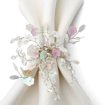 S/4 Lucy White Napkin Rings