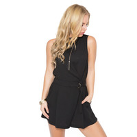 Pick A Side Skort Romper In Black