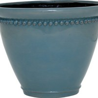 Dynamic Design GSY0812TB Sonia 8-Inch Ceramix Planter, Classic Chic Style, Treasure Blue (Discontinued by Manufacturer)