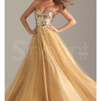 Fabulous Sweetheart Neckline Floor Length Tulle Sequined Ball Gown Prom Dress