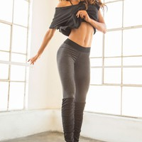 Bombshell Sportswear Fame | Black Luxury Work Out Top
