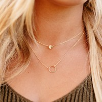 Circle of Gold Layered Necklace