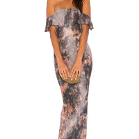 Young, Fabulous & Broke Nell Maxi Dress in Rust Grunge Wash | REVOLVE