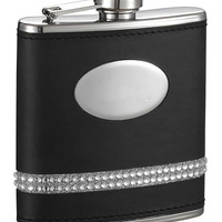 Visol Grace Rhinestone Steel Hip Flask - 5 oz