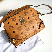 MCM Tide brand fashion personality retro wild casual shoulder diagonal package shell bag