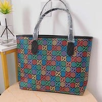 GUCCI x DISNEY Color Letter Print Women Shopping Bag Handbag Shoulder Messenger Bag