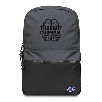 Thought Criminal Embroidered Backpack