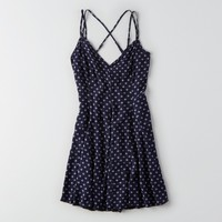 AEO CROSS-BACK FLOWY DRESS