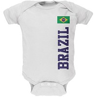World Cup Brazil White Baby One Piece