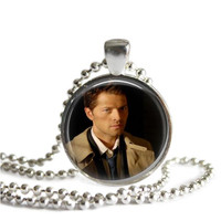 Castiel Silver Plated Necklace Handmade Supernatural Jewelry Misha Collins