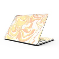 Marbleized Swirling Coral Gold - MacBook Pro with Retina Display Full-Coverage Skin Kit