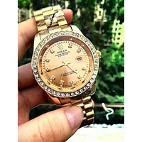 Rolex men and women tide brand simple fashion wild quartz watch-1