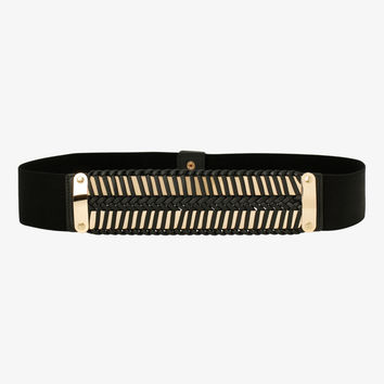 Plated Stretch Belt