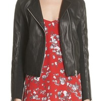 rag & bone Harrison Stretch Panel Leather Jacket | Nordstrom